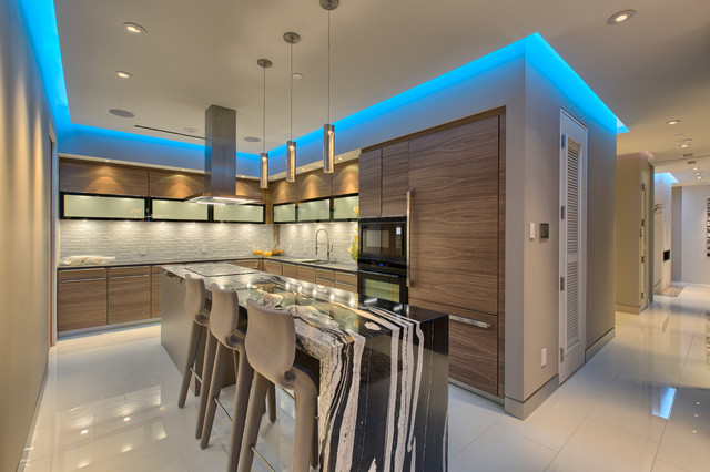 Mandarin Oriental Unit 4307 Modern Kitchen Las Vegas By Luxury Homes Photography