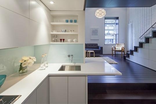 Manhattan Micro-Loft modern-kitchen