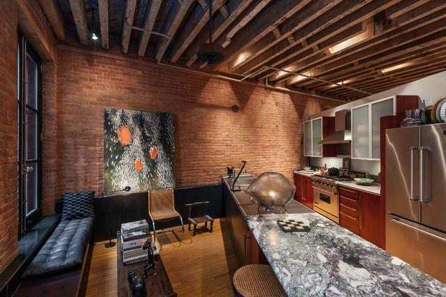 Manhattan Ny Soho Artist Loft Industrial Kitchen