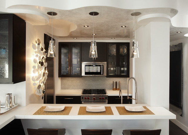 Kitchen Design New York Magnificent Manhattan Nyc Apartment Kitchen Du1302  Contemporary  Kitchen . Design Decoration