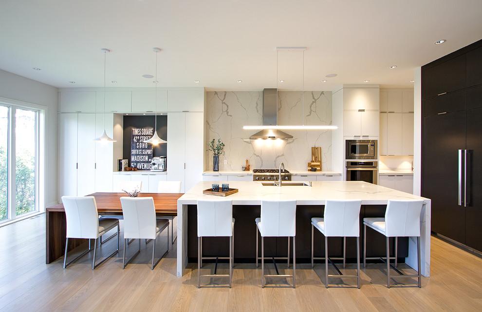 Manhattan Oyster and Java White Oak - Modern - Kitchen ...