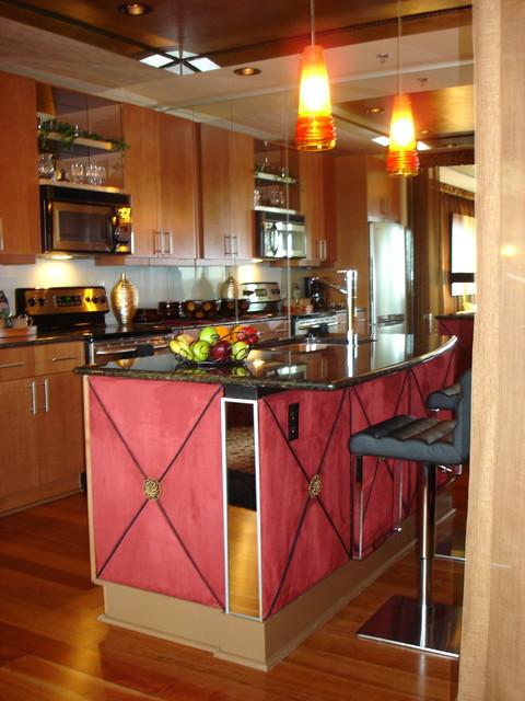 Manhattan Penthouse mediterranean-kitchen