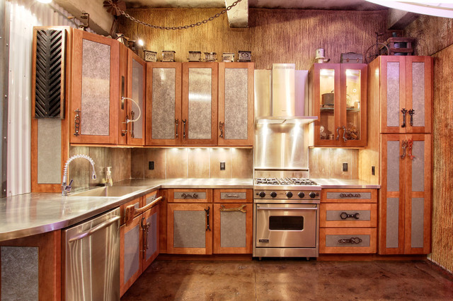 Manhattan Steam Punk Loft Eclectic Kitchen New York