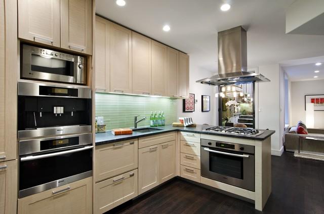 Manhattan tri plex contemporary kitchen new york by cathy hobbs design recipes - Manhattan kitchen design ...