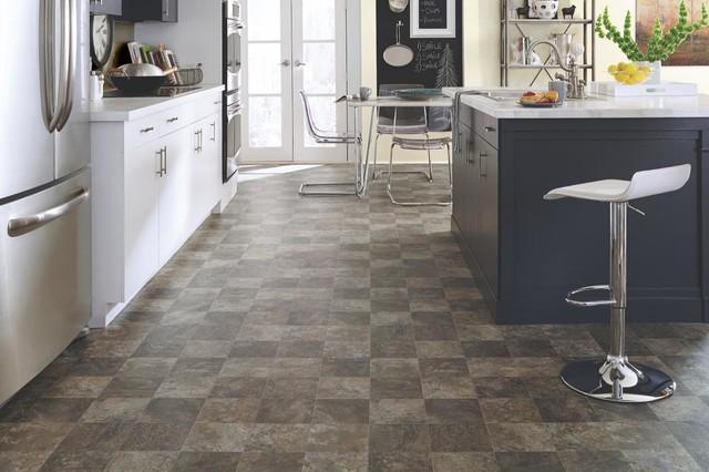 mannington luxury vinyl sheet   transitional   kitchen
