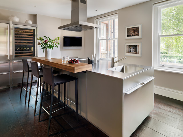 Mansion Block Apartment Contemporary Kitchen