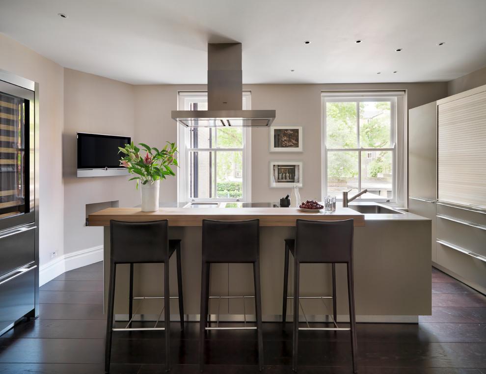 Mansion Block Apartment Contemporary Kitchen