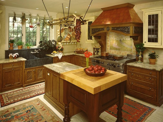Mansion In May 1999rustic Kitchen New York This Tudor Style