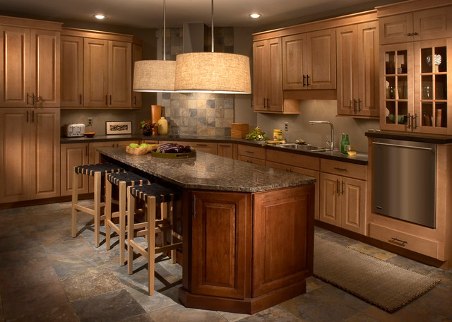 Maple and cherry kitchen traditional kitchen - Kitchen cabinets philadelphia ...