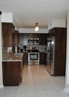kitchen cabinet picture modern kitchen remodel with maple briarwood cabinets and 2675