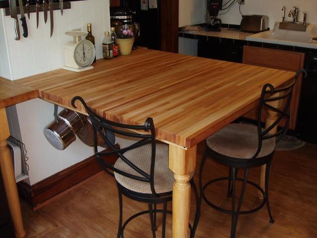 maple butcher block countertop traditional kitchen