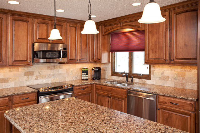 Maple cabinets with Cambria Countertops on Countertops That Go With Maple Cabinets  id=96800