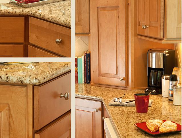 Maple Caramel Kitchen Cabinets Mendota Door Style Cliqstudios