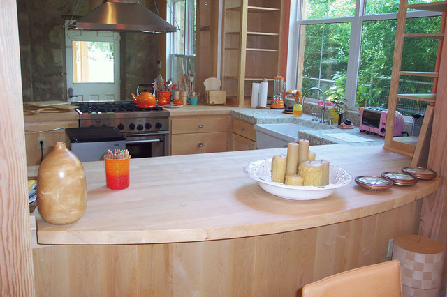 Maple Counter Top Contemporary Kitchen Austin By
