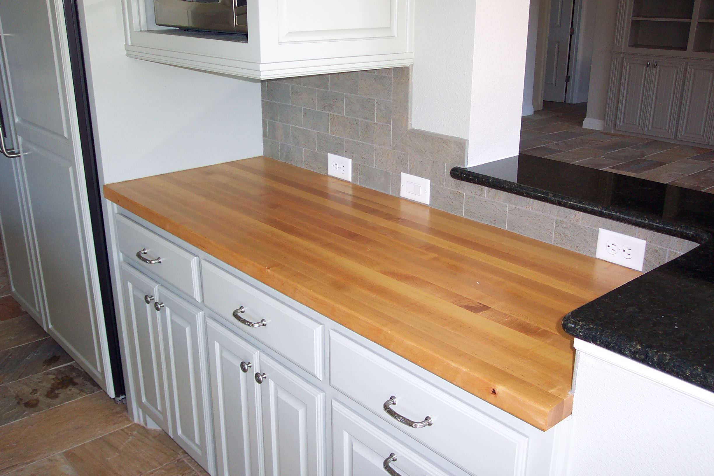 Maple Edge grain wood counter tops