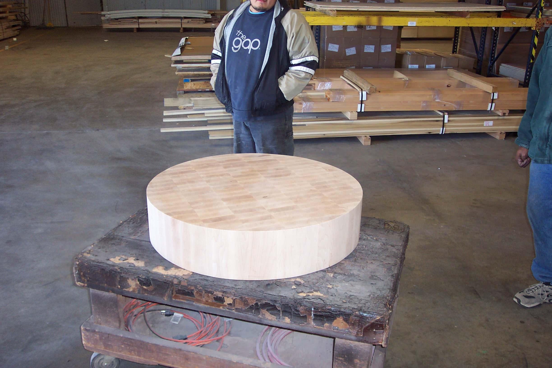 Maple end grain butcher block chopping block
