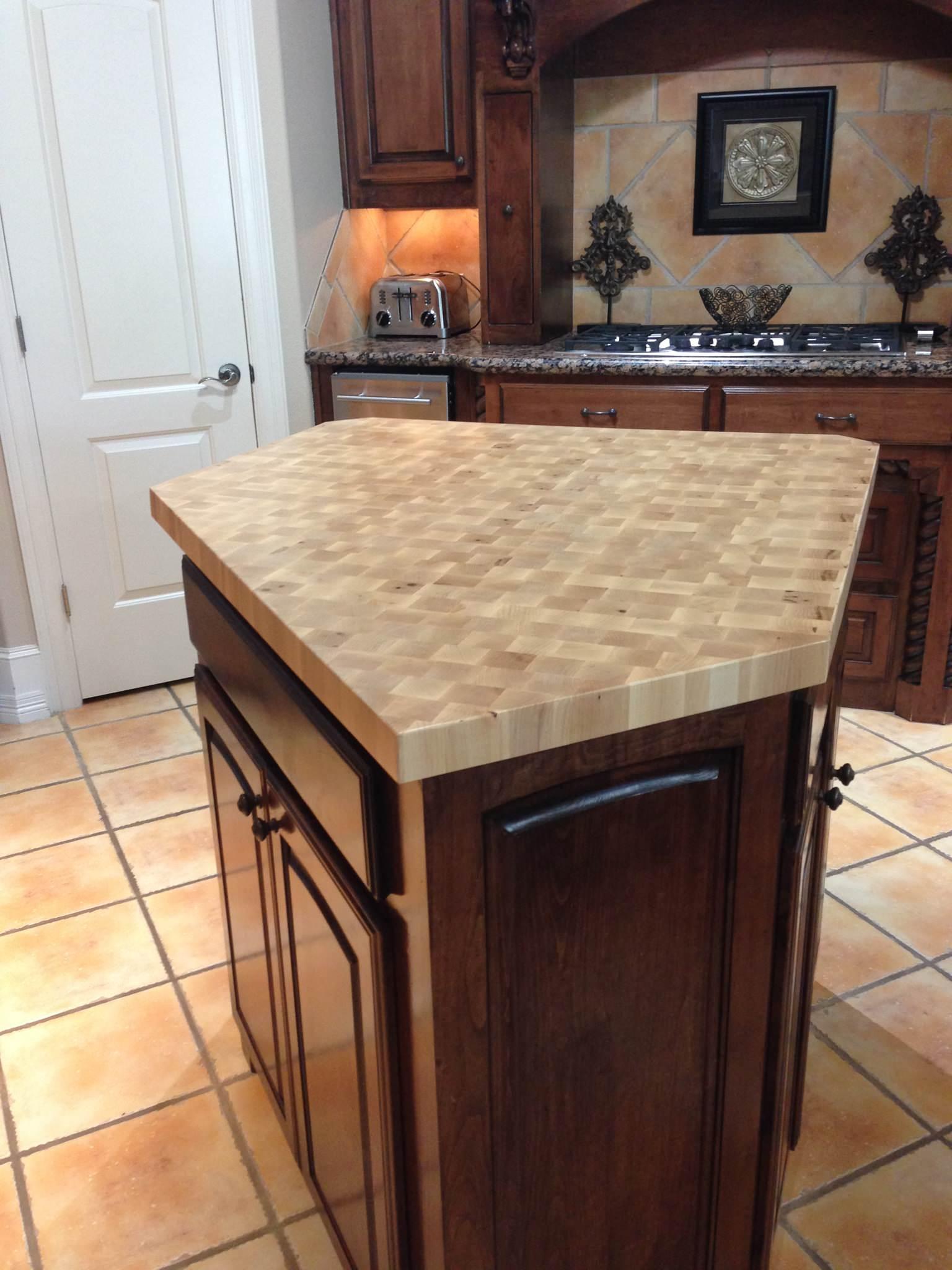 Maple end grain butcher block island Counter Tops