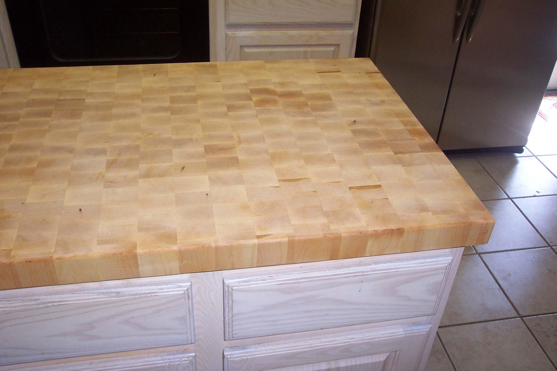Maple end grain butcher block island tops
