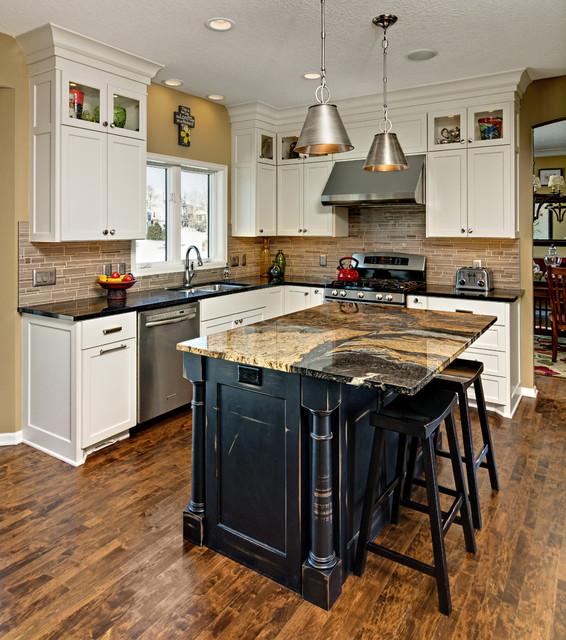 maple grove kitchen renewal transitional kitchen