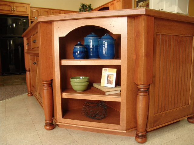 Maple island legs traditional kitchen other by for Kitchen cabinets with legs