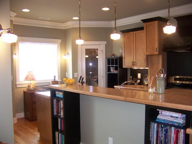 Maple Kitchen Black Trim Craftsman