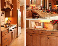 Maple Kitchen Cabinets | Carlton Door Style | CliqStudios traditional kitchen