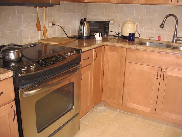 Blonde Kitchen Cabinets