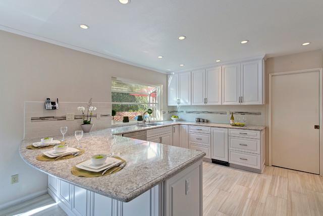 Maple pearl kitchen for Miramar kitchen and bath