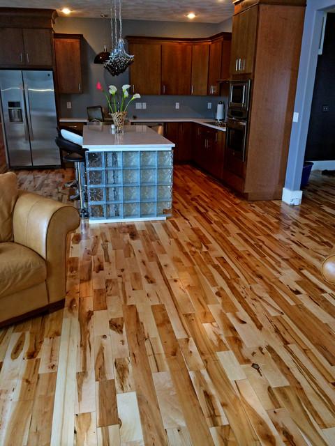 Maple Rustic Grade Flooring transitional-kitchen