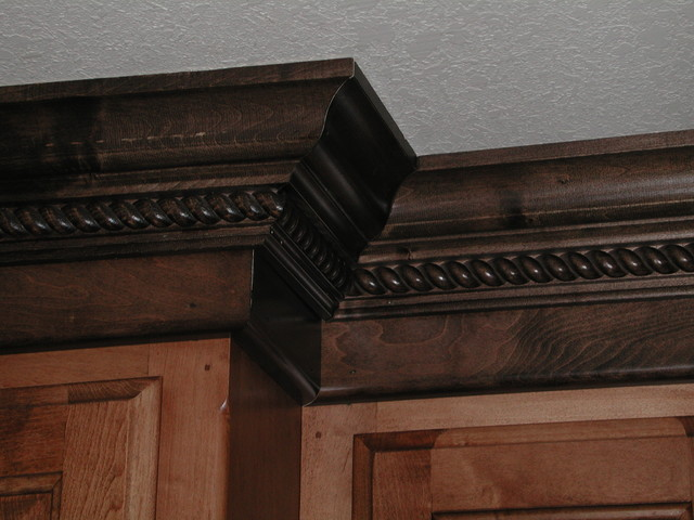 Maple Stained Cabinets With A Darker