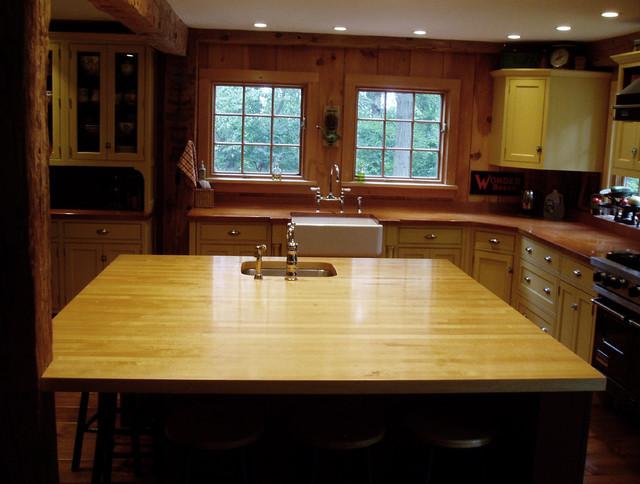 Maple Wood Countertop - Brooks Custom traditional-kitchen