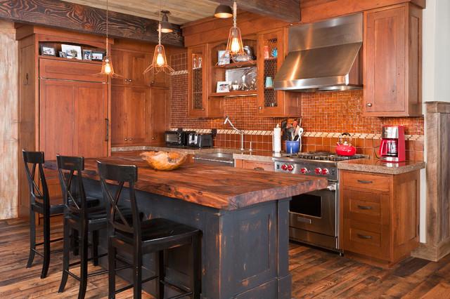 Marabou Ranch Kitchen Rustic Kitchen Denver By