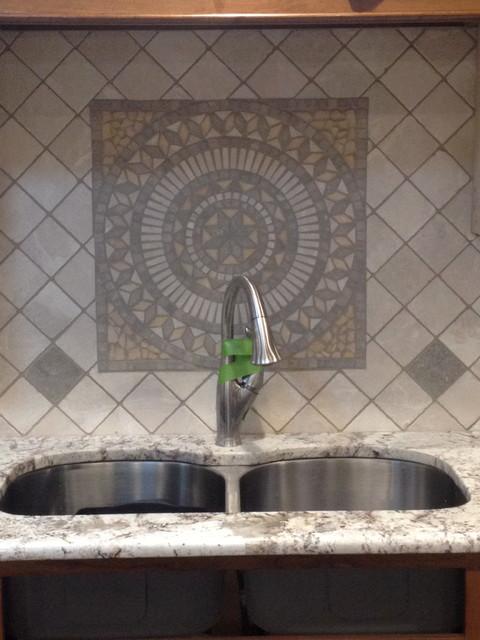 Marble Backsplash contemporary-kitchen