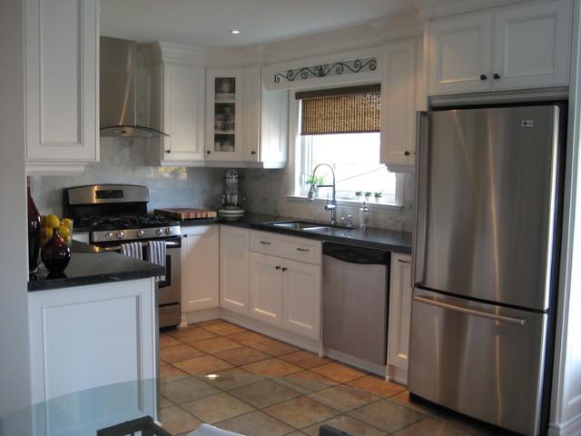 marble backsplash traditional kitchen toronto by