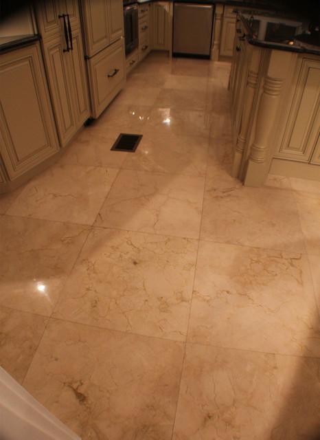 Marble Floor Mediterranean Kitchen Tampa By Depotgranite