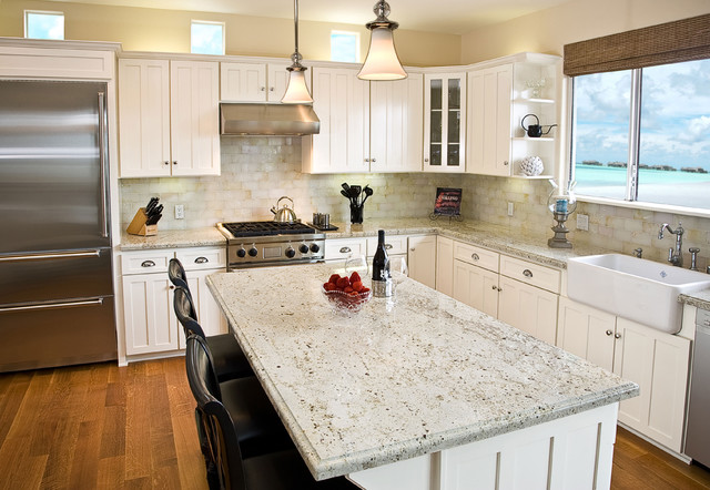 Marble Yard Colonial Cream Granitetraditional Kitchen Orange County