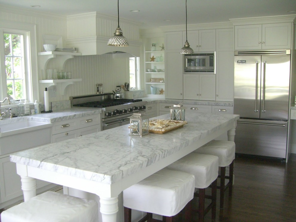 Inspiration for a beach style kitchen remodel in Boston
