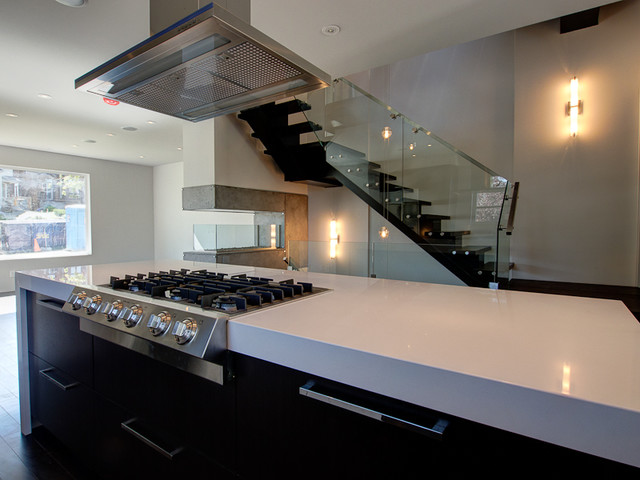 Marda Loop Semi Detached contemporary-kitchen
