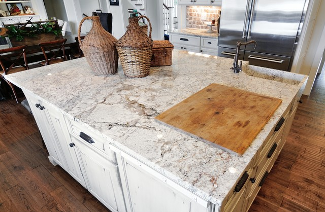 Beau Marietta HomeTraditional Kitchen, Atlanta. White Springs Granite ...