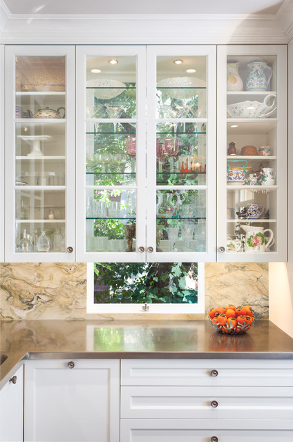 Great Idea Windows Behind Kitchen Cabinets