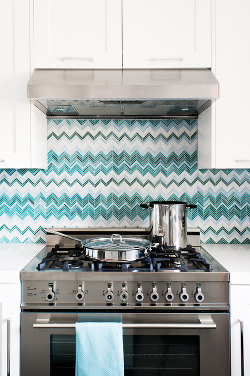 Custom Tile Chevron Backsplash
