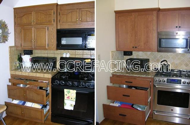 Marin Kitchen Reface - Modern - Kitchen - san francisco - by Custom Cabinet Refacing