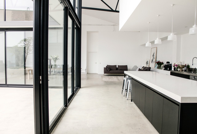 Mark lizotte 39 s warehouse home conversion modern for Converting galley kitchen to open kitchen