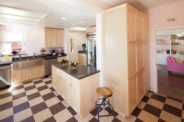 Marmoleum Tiles In Kitchen : Marmoleum Composition TIle - Traditional - Kitchen - other metro - by ...