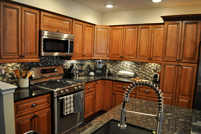 Marquis Cinnamon Kitchen with Center Island  Traditional  Kitchen