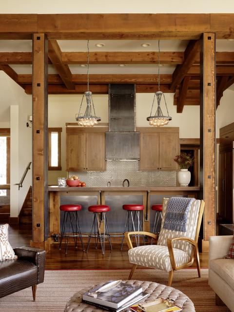 Martis Camp Getaway contemporary-kitchen