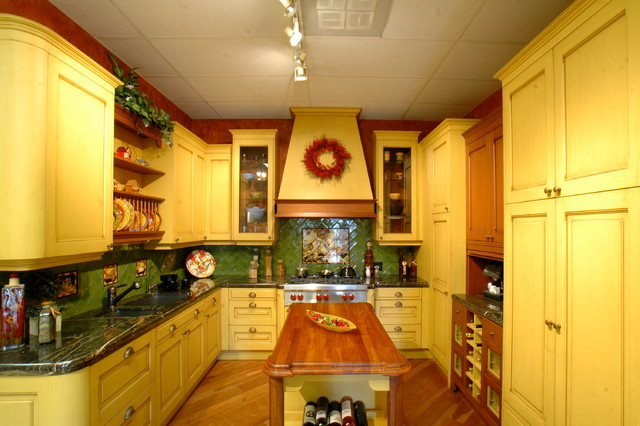 Marvelous Mustard Kitchen Traditional