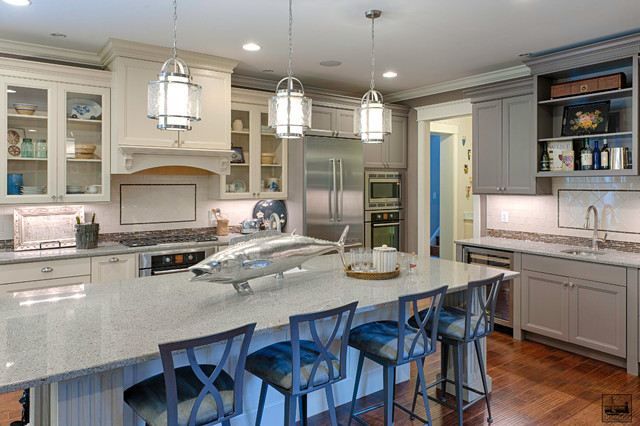 Maryland Green Show House beach-style-kitchen