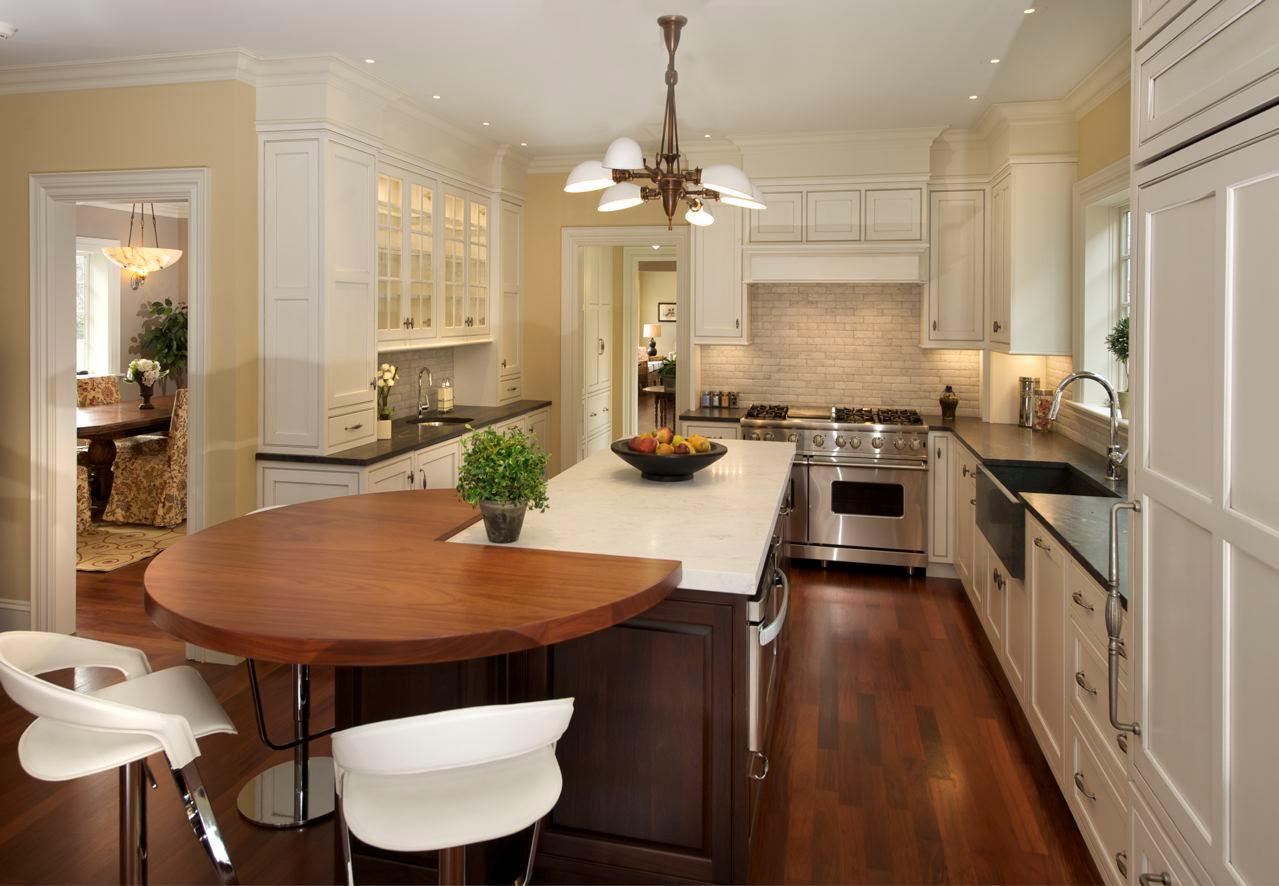 Massachusetts Kitchen -Wood top