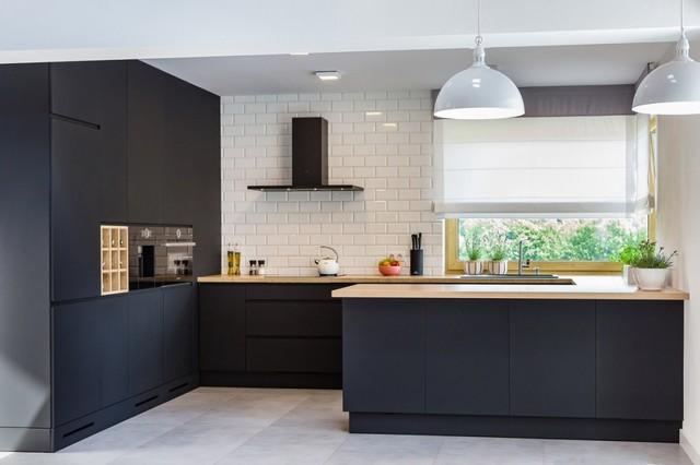 Matte Black Modern Kitchen Contemporary Kitchen Other By